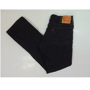 Levis Men 517 34 x 34 Straight Leg Black Jeans